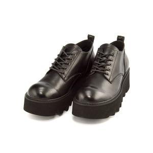 厚底 オックスフォードシューズ メンズ レースアップ プンタ Punta 377242 ブラック shoesdirect