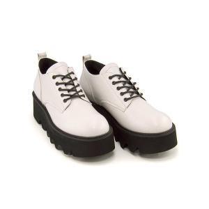厚底 オックスフォードシューズ メンズ レースアップ プンタ Punta 377242 ホワイト shoesdirect