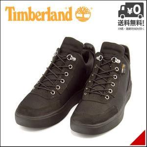 ティンバーランド ハイカット スニーカー ブーツ メンズ アムハースト キャンバス チャッカ 軽量 Timberland A10VA ブラックコーデュラ shoesdirect