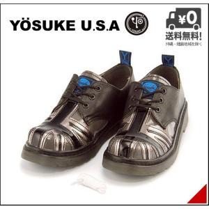オックスフォードシューズ メンズ 30周年記念モデル ユニオンジャック レースアップ 3E 幅広 ヨースケ YOSUKE 2608795 ブラック/コンビ shoesdirect