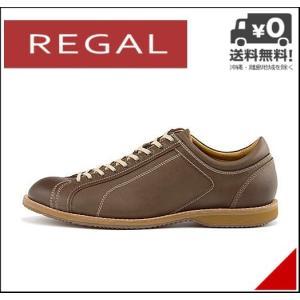 リーガル ローカット スニーカー メンズ レザー EE オフィス ビジネス フォーマル REGAL 750RAFH ダークブラウン|shoesdirect