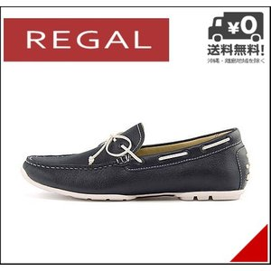 リーガル ドライビングシューズ モカシン メンズ レザー EE オフィス ビジネス フォーマル REGAL 954RAFH ネイビー|shoesdirect