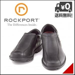 ロックポート メンズ ウォーキングシューズ スリッポン 本革 3E ラギッドバックスウォータープルーフスリップオン ROCKPORT V78376 ブラック