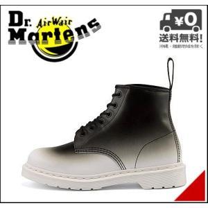 ドクターマーチン ショートブーツ メンズ CORE PRINT FO 101 6 EYE BOOT Dr.Martens 22389101 ホワイト/ブラック shoesdirect