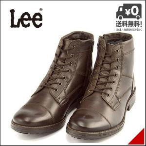 リー ショートブーツ メンズ メサ 限定モデル レースアップ サイドジップ ストレートチップ MESA Lee 776138 ダークブラウン shoesdirect