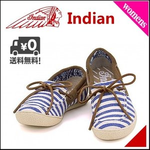 モカシン デッキシューズ スニーカー レディース カジュアル ぺたんこ 歩きやすい 疲れない インディアン ID990 ブルー|shoesdirect