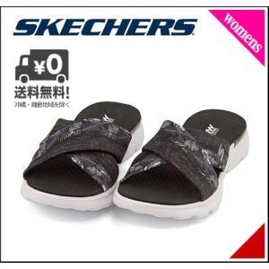 スケッチャーズ スポーツ サンダル レディース オン ザ ゴー 400 トロピカル 軽量 ON THE GO 400 - TROPICAL SKECHERS 14667 ブラック/ホワイト|shoesdirect