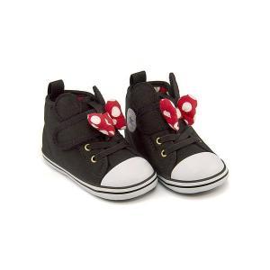 コンバース ベビーシューズ スニーカー 女の子 キッズ ベビー 子供靴 ベビー オールスター N ミニーマウス RB V-1 converse 7CK902 ブラック|shoesdirect