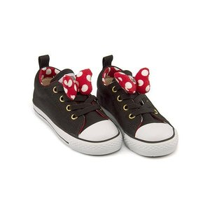 コンバース スニーカー 女の子 キッズ 子供靴 チャイルド オールスター N ミニーマウス RB スリップ OX converse 3CK891 ブラック|shoesdirect