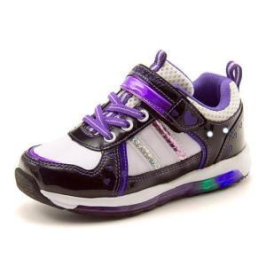 歩く度にキラキラと光ってオシャレなライトアップスニーカー☆ 靴底とアッパーがキラッと光って可愛いアイ...