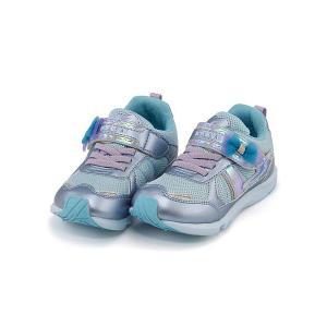 スーパースター バネのチカラ 女の子 キッズ 子供靴 ランニングシューズ スニーカー スウィートガールズコレクション 軽量 EE SUPERSTAR K767 サックス|shoesdirect