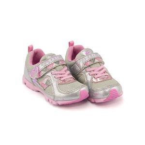 スーパースター バネのチカラ 女の子 キッズ 子供靴 ランニングシューズ スニーカー スウィートガールズコレクション 軽量 EE SUPERSTAR K768 シルバー|shoesdirect