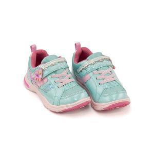 スーパースター バネのチカラ ランニングシューズ スニーカー 女の子 キッズ 子供靴 パワーバネ EE SS SUPERSTAR K3037 ミント|shoesdirect