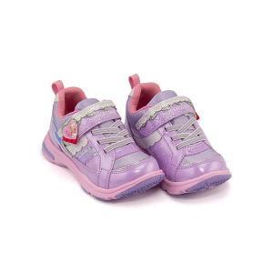 スーパースター バネのチカラ ランニングシューズ スニーカー 女の子 キッズ 子供靴 パワーバネ EE SS  SUPERSTAR K3037 パープル|shoesdirect
