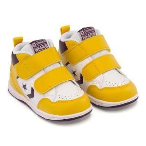 コンバース スニーカー 女の子 男の子 キッズ ベビー 子供靴 ベビー ウエポン HI BABY WEAPON HI converse 32619842 ホワイト/イエロー/パープル|shoesdirect