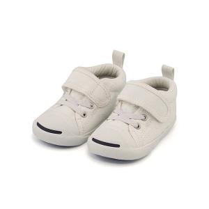 コンバース ベビーシューズ スニーカー 女の子 男の子 キッズ ベビー 子供靴 EE BABY JACK PERCELL N V-1 converse 7CK907 ホワイト|shoesdirect