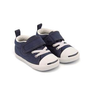 コンバース ベビーシューズ スニーカー 女の子 男の子 キッズ ベビー 子供靴 EE BABY JACK PERCELL N V-1 converse 7CK906 ネイビー|shoesdirect