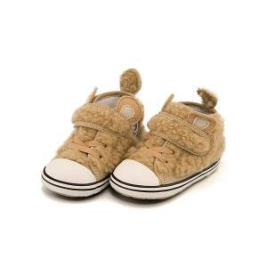コンバース スニーカー 女の子 キッズ ベビー 子供靴 ベビー オールスター N ミニクマ V-1 BABY ALL STAR N MINIKUMA V-1 converse 7CK904 ベージュ|shoesdirect