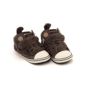 コンバース スニーカー 女の子 キッズ ベビー 子供靴 ベビー オールスター N ミニクマ V-1 BABY ALL STAR N MINIKUMA V-1 converse 7CK905 ブラウン|shoesdirect