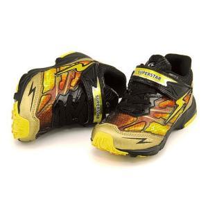 スーパースター バネのチカラ 男の子 キッズ 子供靴 ランニングシューズ スニーカー イナズマスプリンター EE SUPERSTAR K737 ゴールド|shoesdirect
