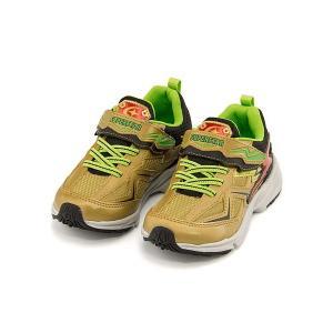 スーパースター バネのチカラ ランニングシューズ スニーカー 男の子 キッズ 子供靴 イナズマスプリンター 3E 幅広 SS SUPERSTAR K3038 ゴールド|shoesdirect
