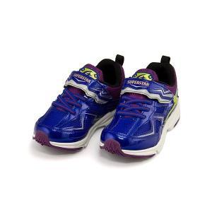 スーパースター バネのチカラ ランニングシューズ スニーカー 男の子 キッズ 子供靴 イナズマスプリンター 3E 幅広 SS SUPERSTAR K3038 ブルー|shoesdirect