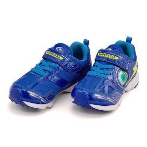 スーパースター バネのチカラ 男の子 キッズ 子供靴 ランニングシューズ スニーカー 3E 幅広 SUPERSTAR K7003AS ブルー|shoesdirect