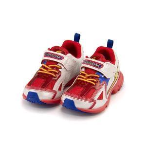 スーパースター バネのチカラ ランニングシューズ スニーカー 男の子 キッズ 子供靴 パワーバネ 3E 幅広 SS SUPERSTAR K2983G レッド/W|shoesdirect