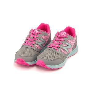 ニューバランス ランニングシューズ スニーカー 女の子 男の子 キッズ 子供靴 KJ455 軽量 new balance 170455 グレー/ピンク|shoesdirect