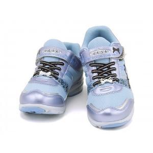 スーパースター バネのチカラ 女の子 キッズ 子供靴 ランニングシューズ スニーカー スタージュエリーコレクション EE SS SUPERSTAR J663 サックス|shoesdirect