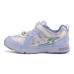 スーパースター バネのチカラ 女の子 キッズ 子供靴 スニーカー スウィートガールズコレクション ゴム紐 ストラップ EE SS SUPERSTAR J729 サックス|shoesdirect
