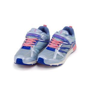 スーパースター バネのチカラ ランニングシューズ スニーカー 女の子 キッズ 子供靴 ビッグバンショット 軽量 EE SUPERSTAR J3045 サックス|shoesdirect