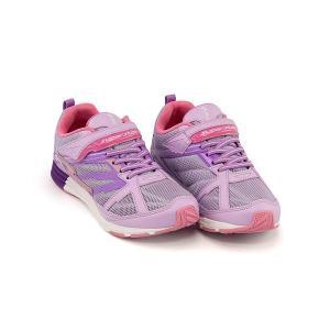 スーパースター バネのチカラ ランニングシューズ スニーカー 女の子 キッズ 子供靴 ビッグバンショット 軽量 EE SUPERSTAR J3045 パープル|shoesdirect