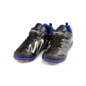 スーパースター バネのチカラ ランニングシューズ スニーカー 男の子 キッズ 子供靴 イナズマスプリンター EE SUPERSTAR J787 ブラック|shoesdirect