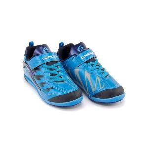スーパースター バネのチカラ ランニングシューズ スニーカー 男の子 キッズ 子供靴 イナズマスプリンター EE SUPERSTAR J787 ブルー|shoesdirect