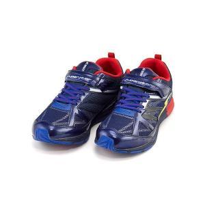 スーパースター バネのチカラ ランニングシューズ スニーカー 男の子 キッズ 子供靴 ビッグバンショット 軽量 EE SUPERSTAR J3045 ネイビー|shoesdirect