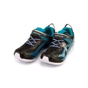 スーパースター バネのチカラ ランニングシューズ スニーカー 男の子 キッズ 子供靴 パワーバネ EE SS SUPERSTAR J2993G ブラック(白底)|shoesdirect