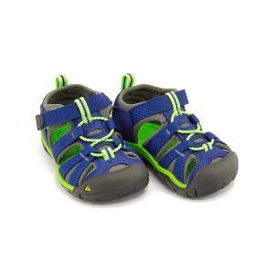 キーン ウォーターシューズ 女の子 男の子 キッズ ベビー 子供靴 SEACAMP 2 CNX KEEN 1014443 トゥルーブルー/ジャスミングリーン|shoesdirect