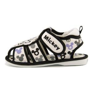 ディズニー ミッキーマウス サンダル ベビーシューズ 男の子 キッズ ベビー 子供靴 ストラップ 笛付き Disney DS4134 ブラック|shoesdirect