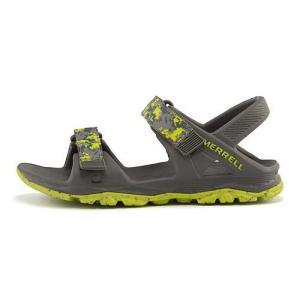メレル スポーツ サンダル 女の子 男の子 キッズ 子供靴 ハイドロ ドリフト HYDRO DRIFT MERRELL MC56493 グレー/ライム|shoesdirect