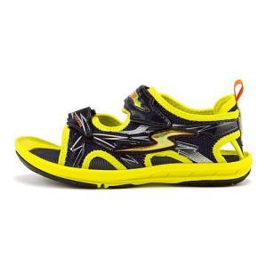 スーパースター バネのチカラ 男の子 キッズ 子供靴 スポーツ サンダル イナズマスプリンター SS SUPERSTAR SK761 イエロー|shoesdirect