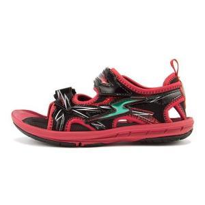 スーパースター バネのチカラ 男の子 キッズ 子供靴 スポーツ サンダル イナズマスプリンター SS SUPERSTAR SK761 レッド|shoesdirect