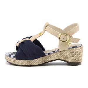 厚底 サンダル ウェッジソール アンクルストラップ 女の子 キッズ 子供靴 美脚 リップザスウェル Rip the Swell 847020 ネイビー|shoesdirect