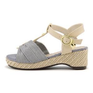 厚底 サンダル ウェッジソール アンクルストラップ 女の子 キッズ 子供靴 美脚 リップザスウェル Rip the Swell 847020 ネイビー/C|shoesdirect