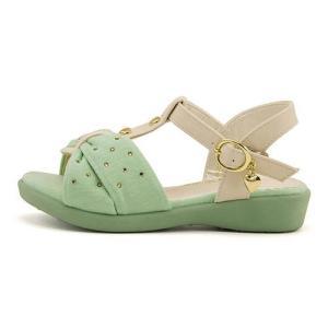 サンダル ぺたんこ Tストラップ 女の子 キッズ 子供靴 美脚 リップザスウェル Rip the Swell 847017 ミント|shoesdirect
