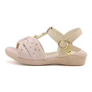 サンダル ぺたんこ Tストラップ 女の子 キッズ 子供靴 美脚 リップザスウェル Rip the Swell 847017 ピンク|shoesdirect