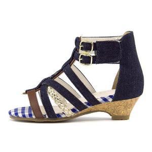 グラディエーター サンダル ウェッジソール アンクルストラップ 女の子 キッズ 子供靴 美脚 リップザスウェル Rip the Swell 847018 ネイビー|shoesdirect