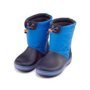 クロックス ウィンターブーツ スノーブーツ 女の子 男の子 キッズ 子供靴 CROCBAND LODGEPOINT BOOT KIDS crocs 203509 オーシャン/ネイビー|shoesdirect
