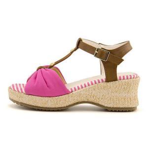 サンダル ウェッジソール Tストラップ 女の子 キッズ 子供靴 リボン付き リップザスウェル Rip the Swell 852044 ピンク|shoesdirect