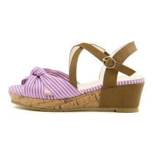 サンダル ウェッジソール アンクルストラップ 女の子 キッズ 子供靴 リボン付き リップザスウェル Rip the Swell 852045 パープル|shoesdirect